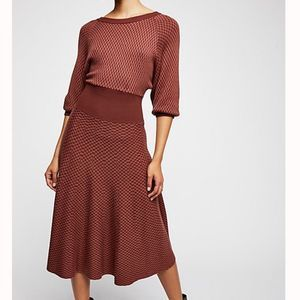 BNWT! • FREE PEOPLE • Knit Patterned Sweater Dress